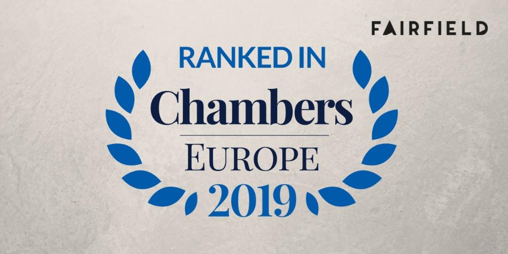 Kancelaria Fairfield wyróżniona przez Chambers Europe 2019